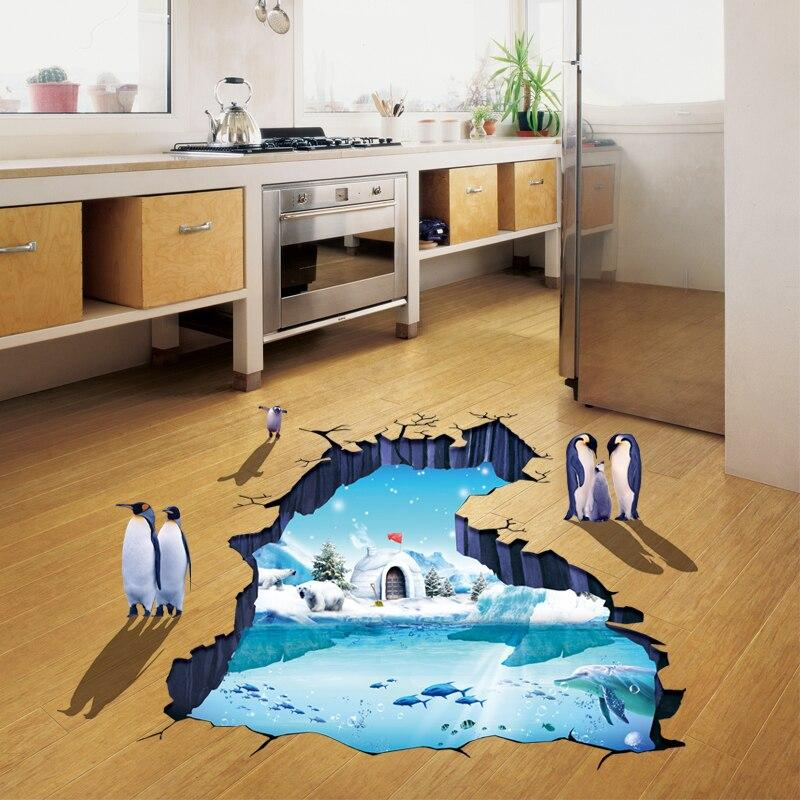 XL8303 SNOW N PINGUIN 3D wallsticker wall sticker stiker dinding
