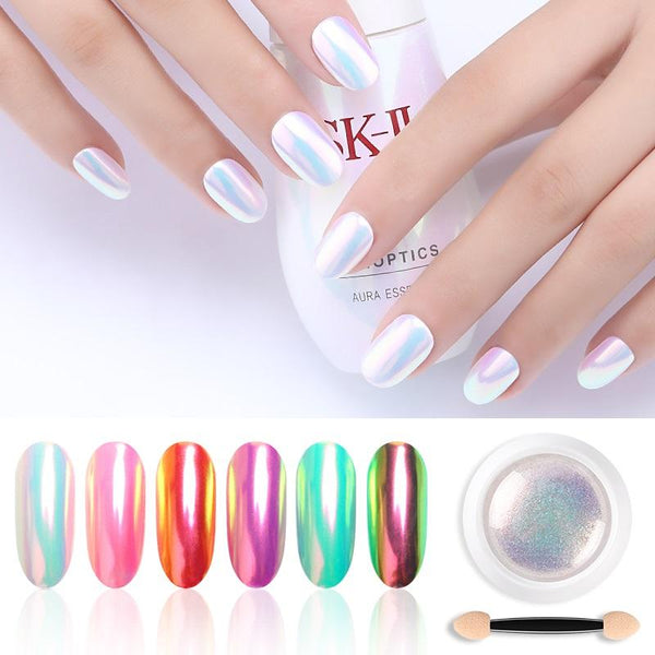 12 box rendome colors Nail Glitter Powder Pearl Shimmer Nail Powder Chrome Sparkling Dazzling Pigment Dust Art Decoration