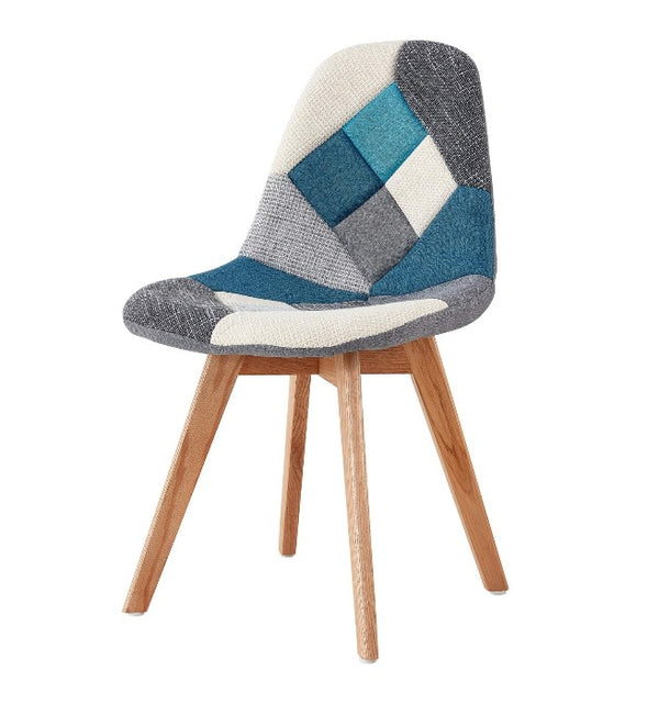 chaise-scandinave-patchwork-bleu