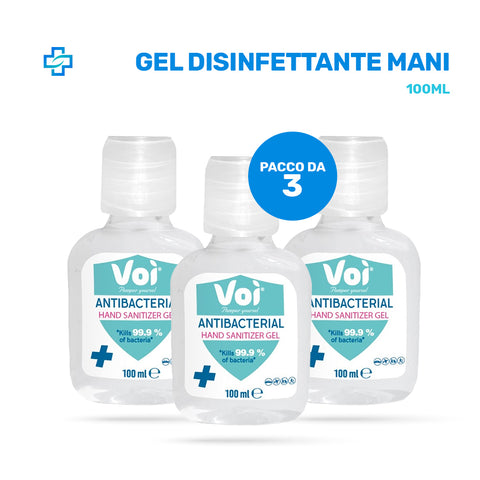 3x Gel Disinfettante mani 100 ML