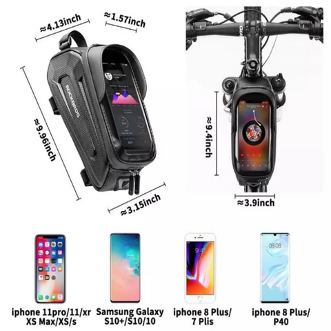 Waterproof Touch Screen Cycling Bag | 6.8 Inch-JustBikeBags