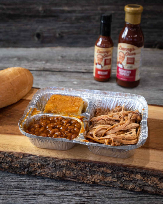 Pulled Pork w/ Beans & Jalapeno Corn Bread