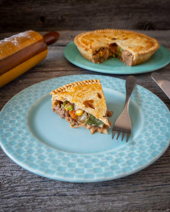 Pulled Pork & Vegetable Pie - Danny's Whole Hog