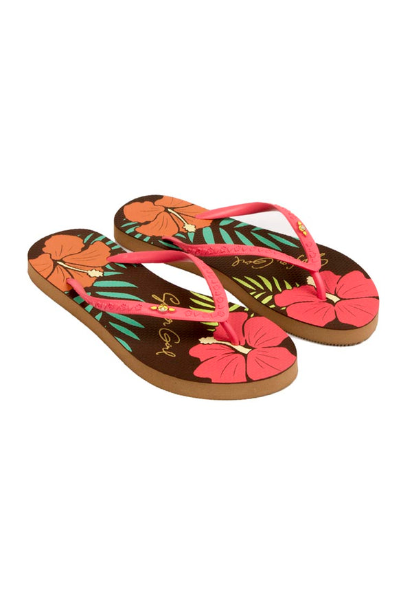 Summer Hibiscus Teen Sandals