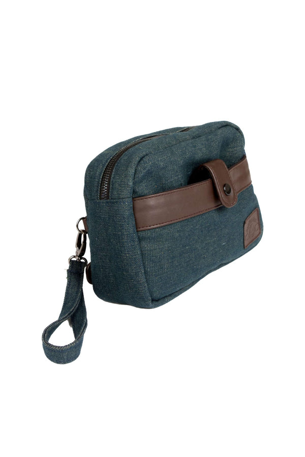 Denim Blue Summer Pouch