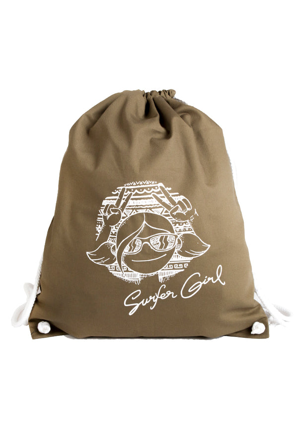 Bohemian Girl Drawstring Bag