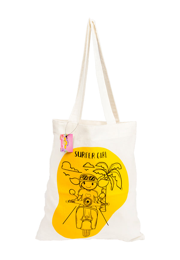Hello Summer Tote Bag White
