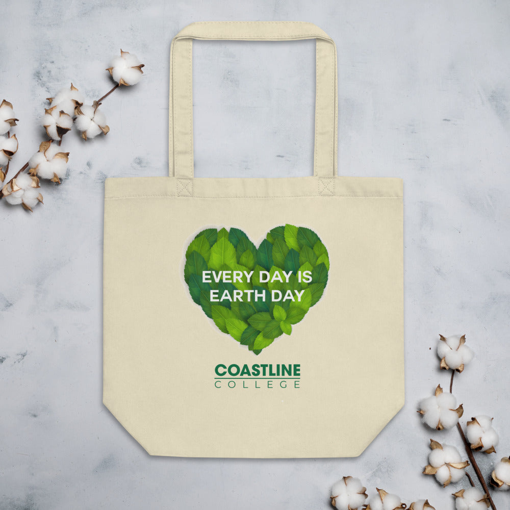 "Coastline ""Every Day is Earth Day"" Eco Tote Bag"