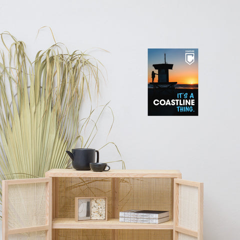 """It's A Coastline Thing"" Poster"