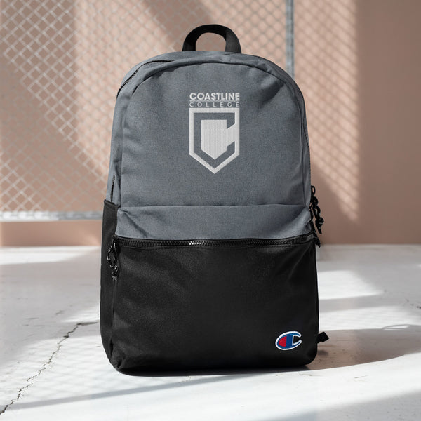 Coastline College Embroidered Champion Backpack