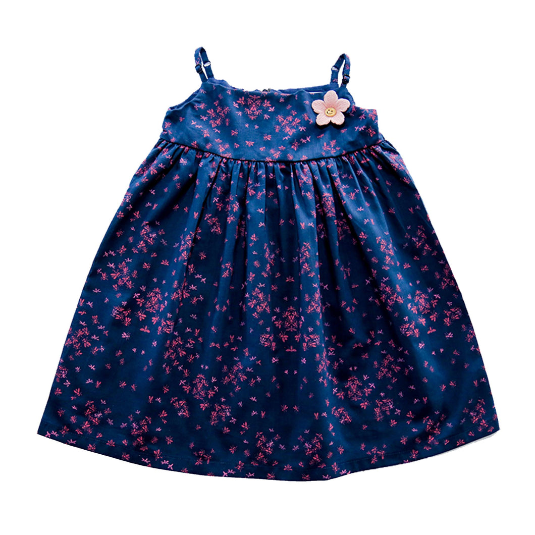 Dress - Flora (Pink, Navy Blue)