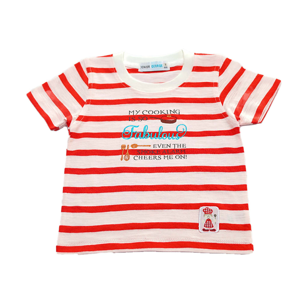 Crewneck - My Cooking Is So Fabulous Even The Smoke Alarm Cheers Me On !  (Red,White Stripe)
