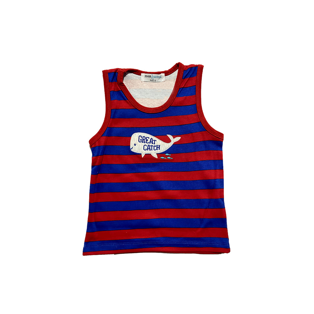 Skinny- Great Catch (Red And Blue Stripe)
