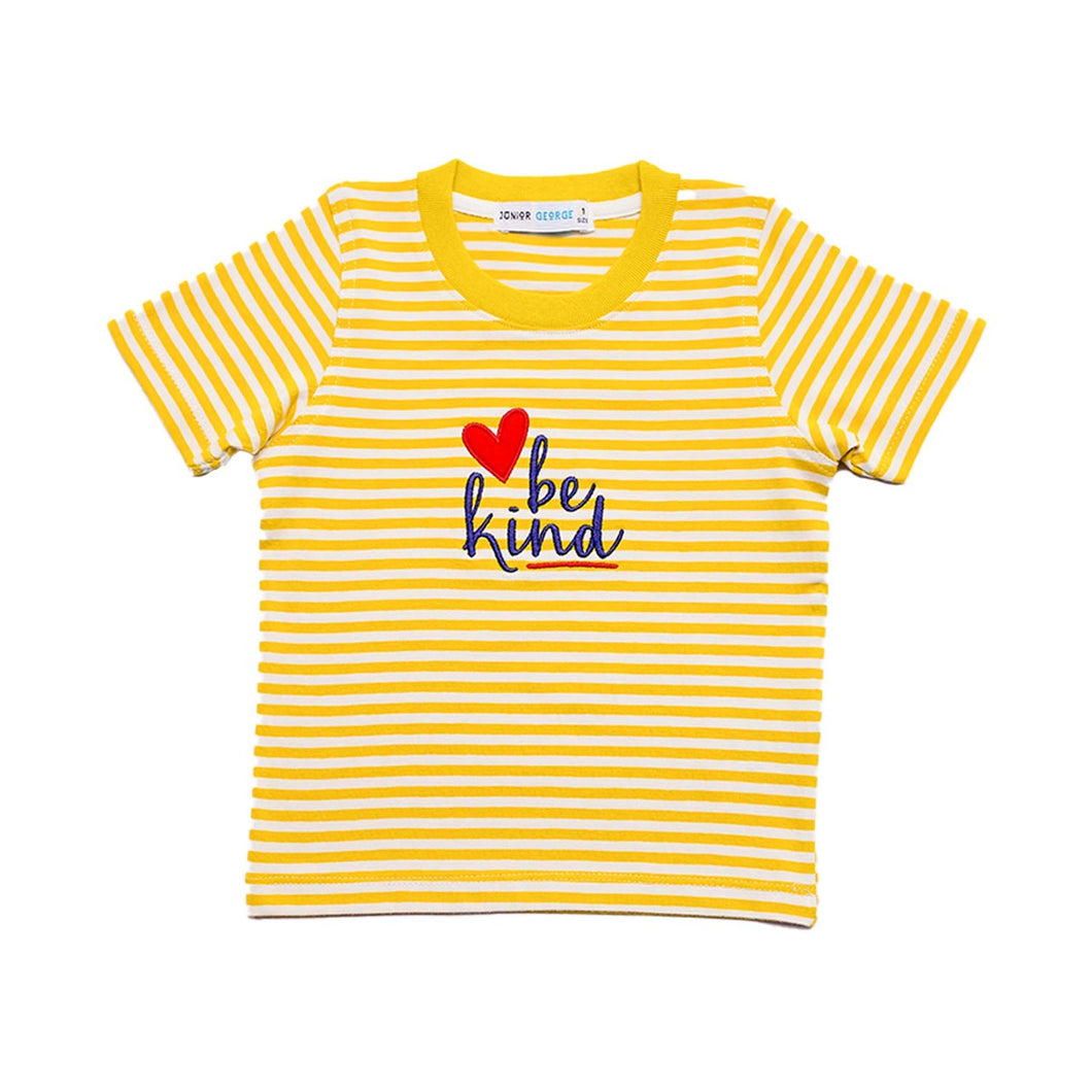 Crewneck - Be kind (Yellow, Grey Stripe)