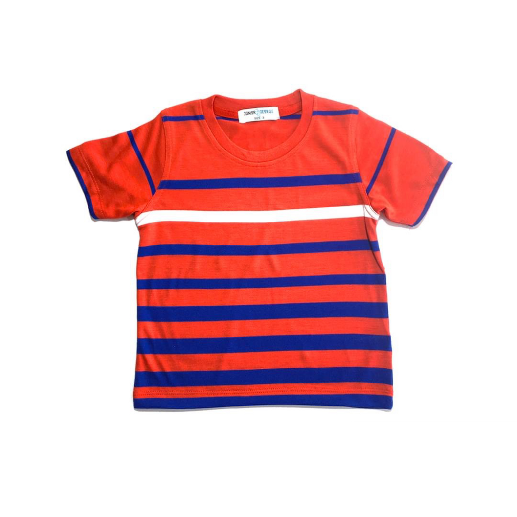 Crewneck - (Red, Blue and White Stripe)