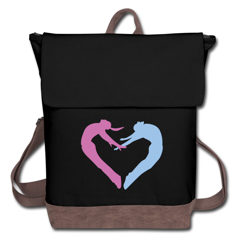 Dancers Heart Canvas Backpack - Digital Crayons