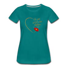 Load image into Gallery viewer, Home is Where Mom Is Women's Premium T-Shirt - Digital Crayons