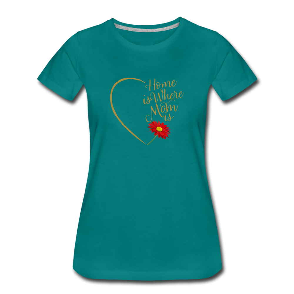 Home is Where Mom Is Women's Premium T-Shirt - Digital Crayons