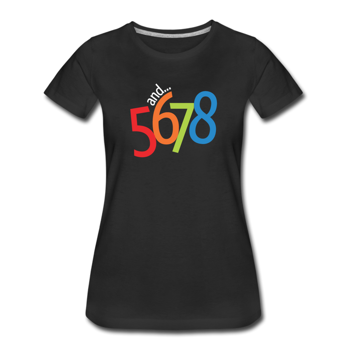 and... 5,6,7,8 Women's Premium T-Shirt - Digital Crayons
