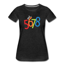 Load image into Gallery viewer, and... 5,6,7,8 Women's Premium T-Shirt - Digital Crayons