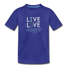 Load image into Gallery viewer, Live, Love, Dance - I Heart Dance Kids' Premium T-Shirt - Digital Crayons