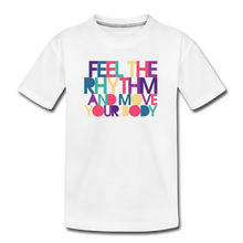 Load image into Gallery viewer, Feel the Rhythm and Move Your Body Kids' Premium T-Shirt - Digital Crayons
