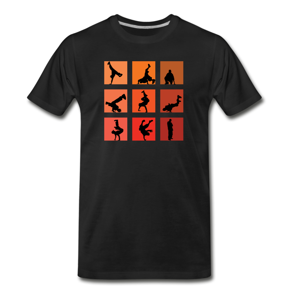 Breakdance Men's Premium T-Shirt - Digital Crayons