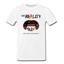 Load image into Gallery viewer, This Reality Sux (sucks) Men's Premium T-Shirt - Digital Crayons