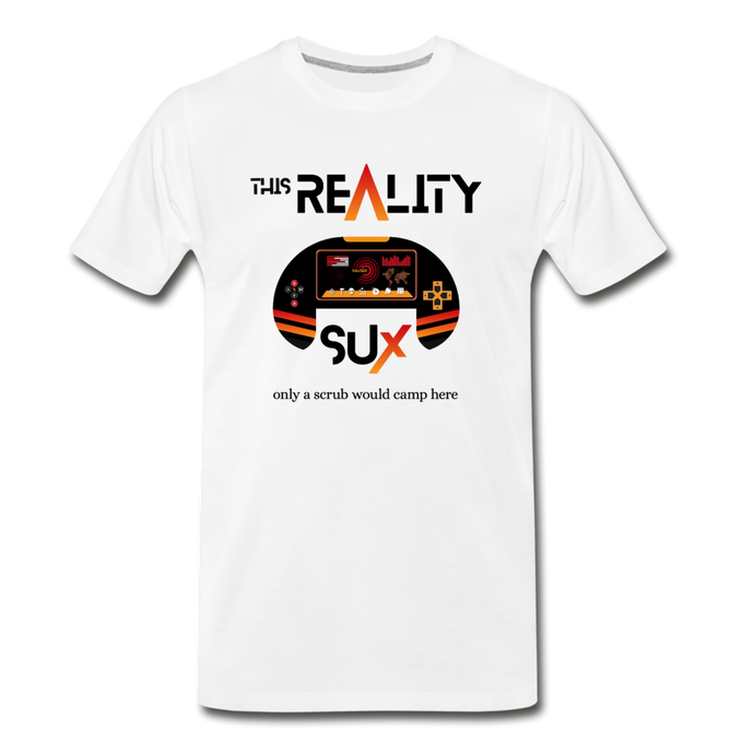 This Reality Sux (sucks) Men's Premium T-Shirt - Digital Crayons