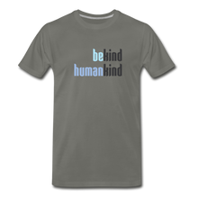 Load image into Gallery viewer, Be Human - Be Kind, Humankind - Men - asphalt gray
