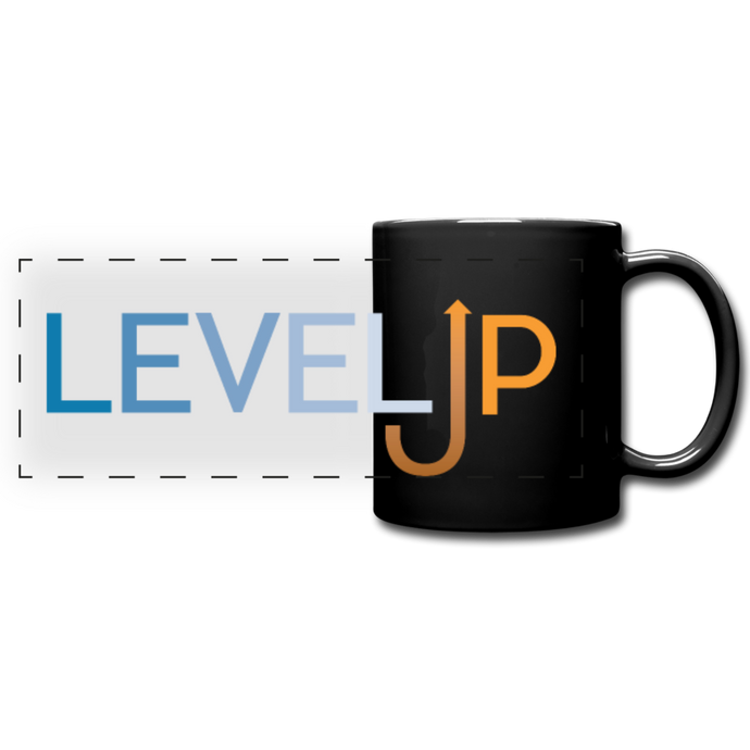Level Up Panoramic Mug - black