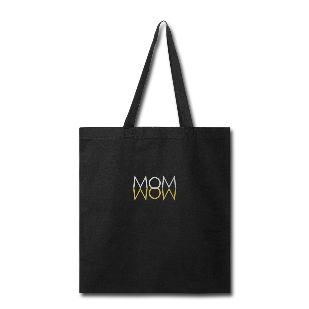 Mom Wow Tote Bag - black