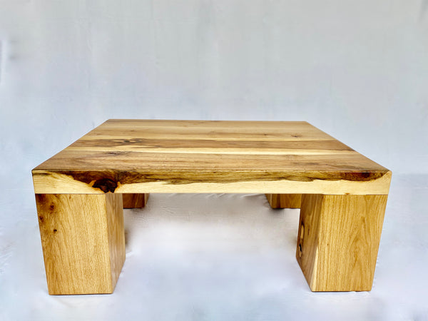 Solid Oak Coffee Table - Simple - Front View