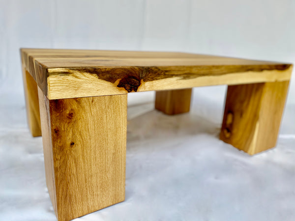 Solid Oak Coffee Table - Simple - Side View