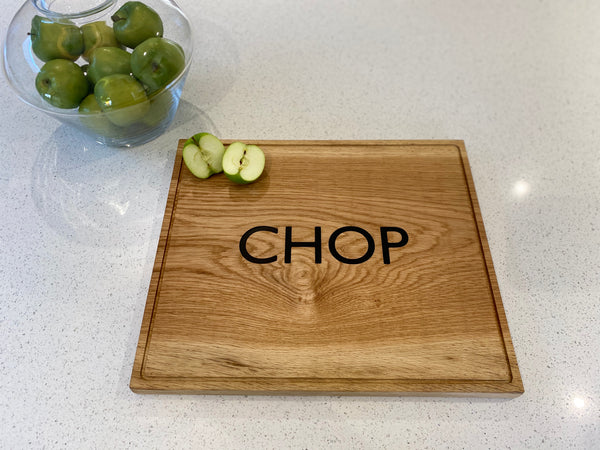 Solid Oak Inlaid Chopping Boards - Any word can be inlaid - Fully customisable/personalised - Ideal Christmas Gift