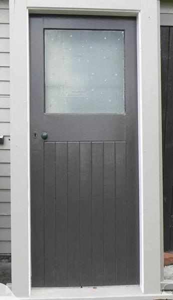 1 Lite Tongue & Groove Exterior Door in Frame 2000H x 800W