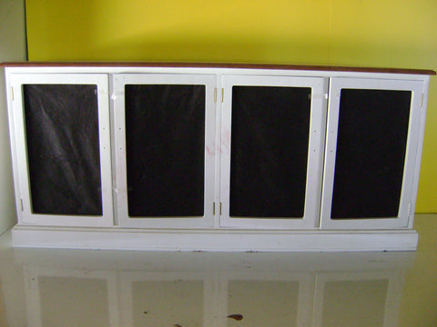 White & Black Cupboard(750H x 1665L x 430D)