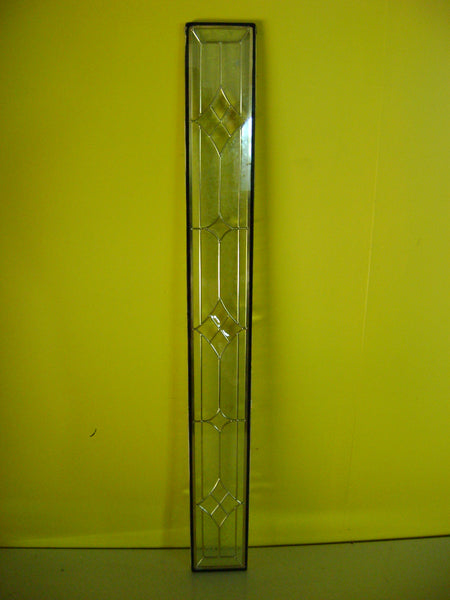 Double Glazed Leadlight Panel with Decorative Glass 1625H x 180W