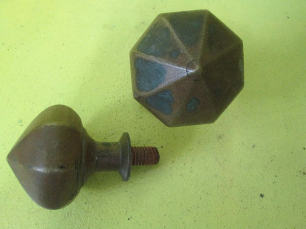 Gothic Solid  Brass Hexagonal Centre Door Knobs