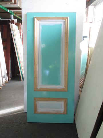 Sea Green Moulded Panel Door with 2 x Side Lites 1980H x 860W  x 40D/ 1980L  x 400W x 40D