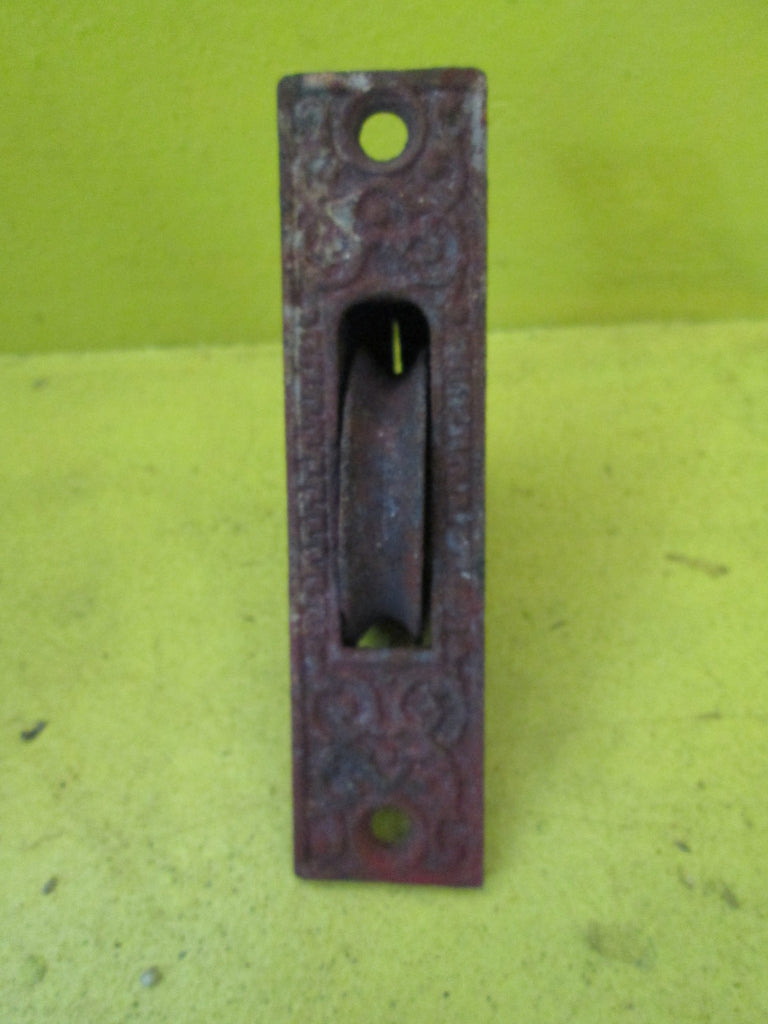 Rectangle Sash Weigh Pulley - Paisley Design 108L x 26W x 45D