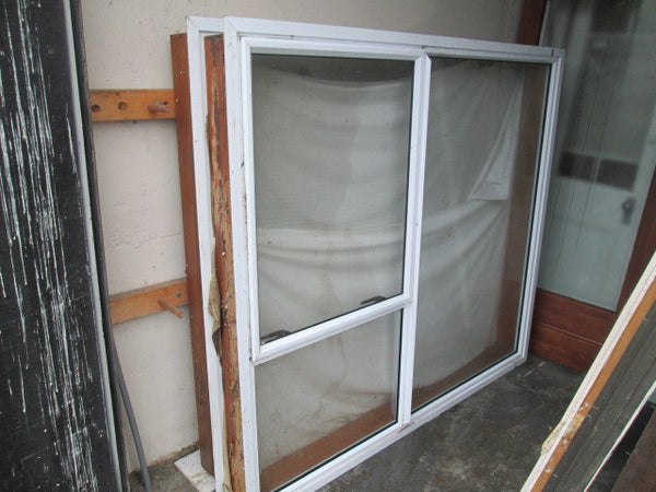 3 Lite White Aluminum Window with Opening Lite(1600H x 1800W)