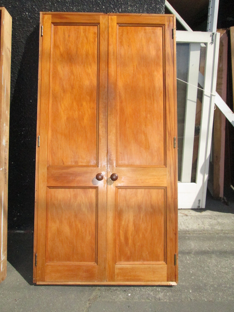 Double Rimu Wardrobe Doors in a Frame 2040H x 1400W