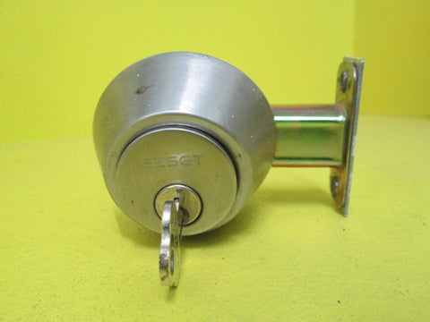 Double security door lock with key