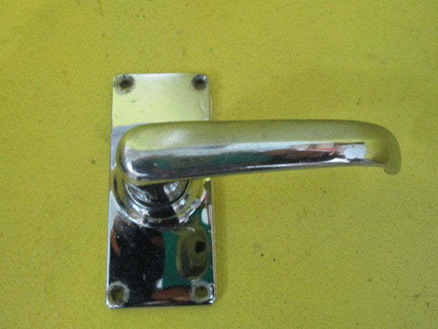 Retro Chrome Straight Rectangle Lever Door Latch(50 Axial)