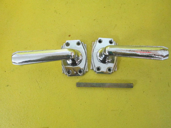 Art Deco Chrome Hexagon Lever Latch Handles