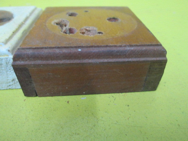 Square Wooden Mounting Block For Vintage Switches75l X 75w X 30h