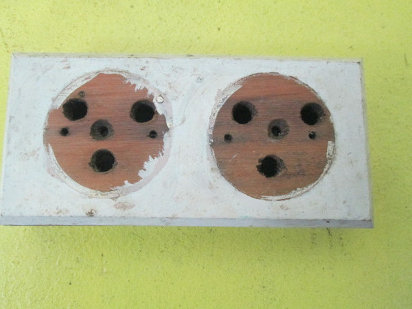 Small Wooden Mounting Block for Vintage Switches(150L x 70W x 30H)