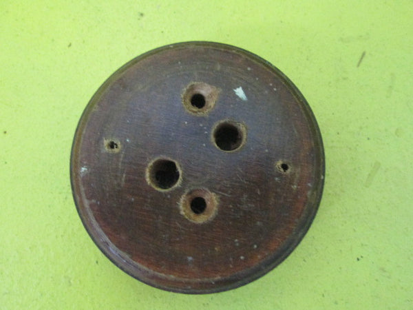 Small Moulded Circle Wooden Mountings Block for Vintage Switch (80D x 25H)