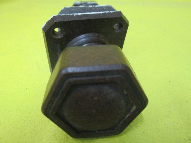 Art Deco Bakelite Hexagonal knob with Square Plate(Plate 55 SQ/Knob 45D x 50H)